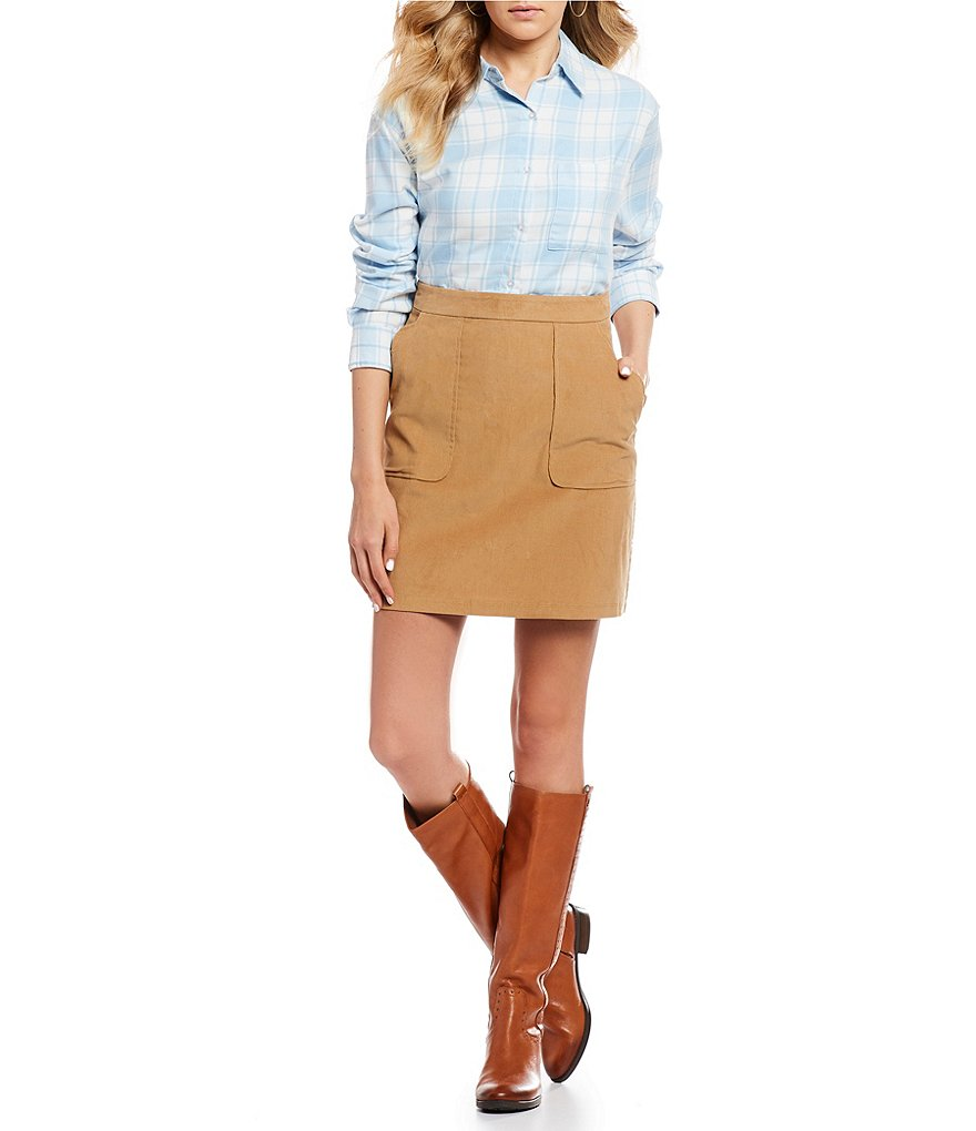 Lauren James Patch Pocket Skirt