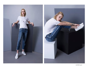 The Hayden Split Cropped Denim