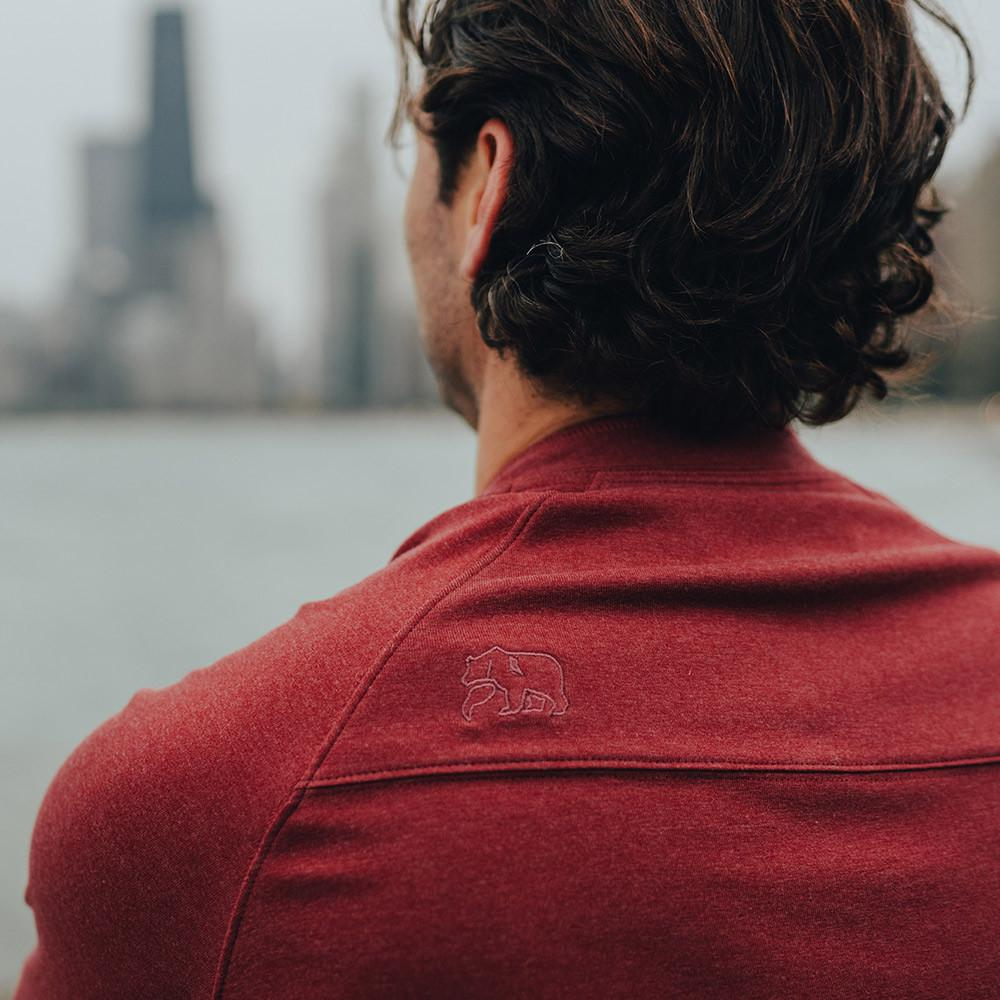Normal Brand LS Puremeso Henley - Tibetan Red