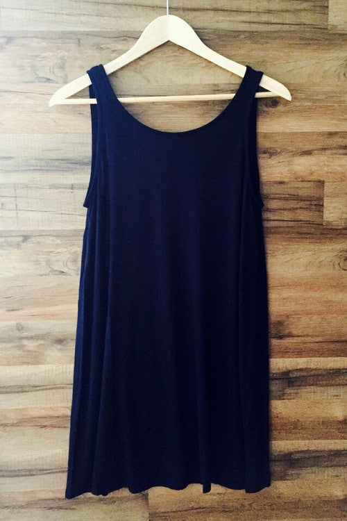 ROPE BACK TANK DRESS