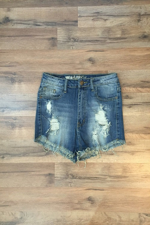 HIGH WAISTED JEAN SHORT