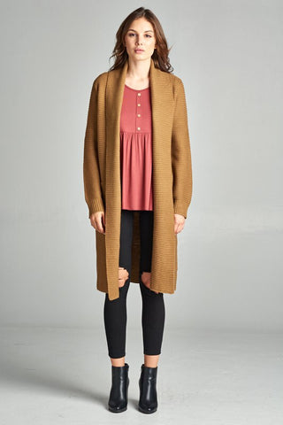 CLASSIC COAT CARDIGAN WITH POCKETS