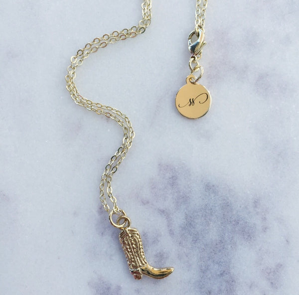 DAINTY COWBOY BOOT NECKLACE