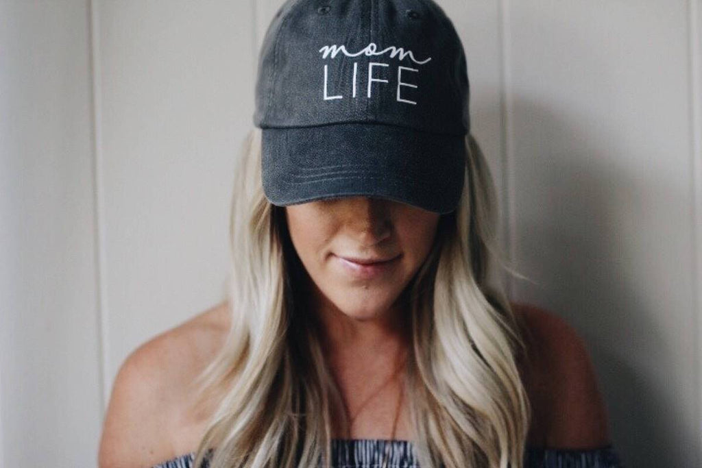 MOM LIFE VINTAGE WASH HAT