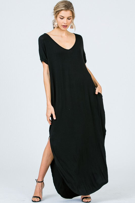 oversized t shirt maxi dress