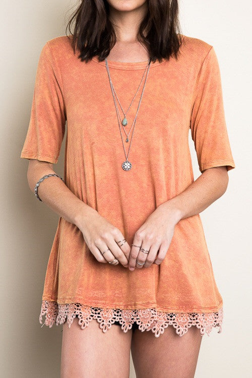 RIDING INTO THE SUNSET ACID WASH TUNIC