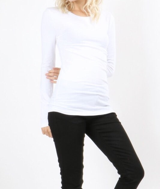 PERFECT SIMPLE SOFT SCOOP NECK TEE