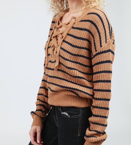 DROP SHOULDER PULL OVER SWEATER