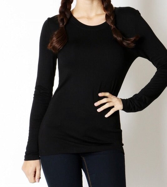 SIMPLE SOFT ROUND NECK TEE