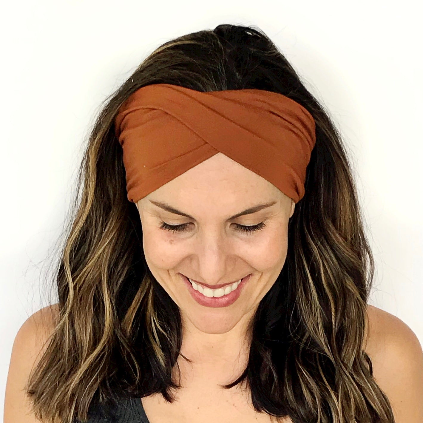 Rust Double Twist Headband