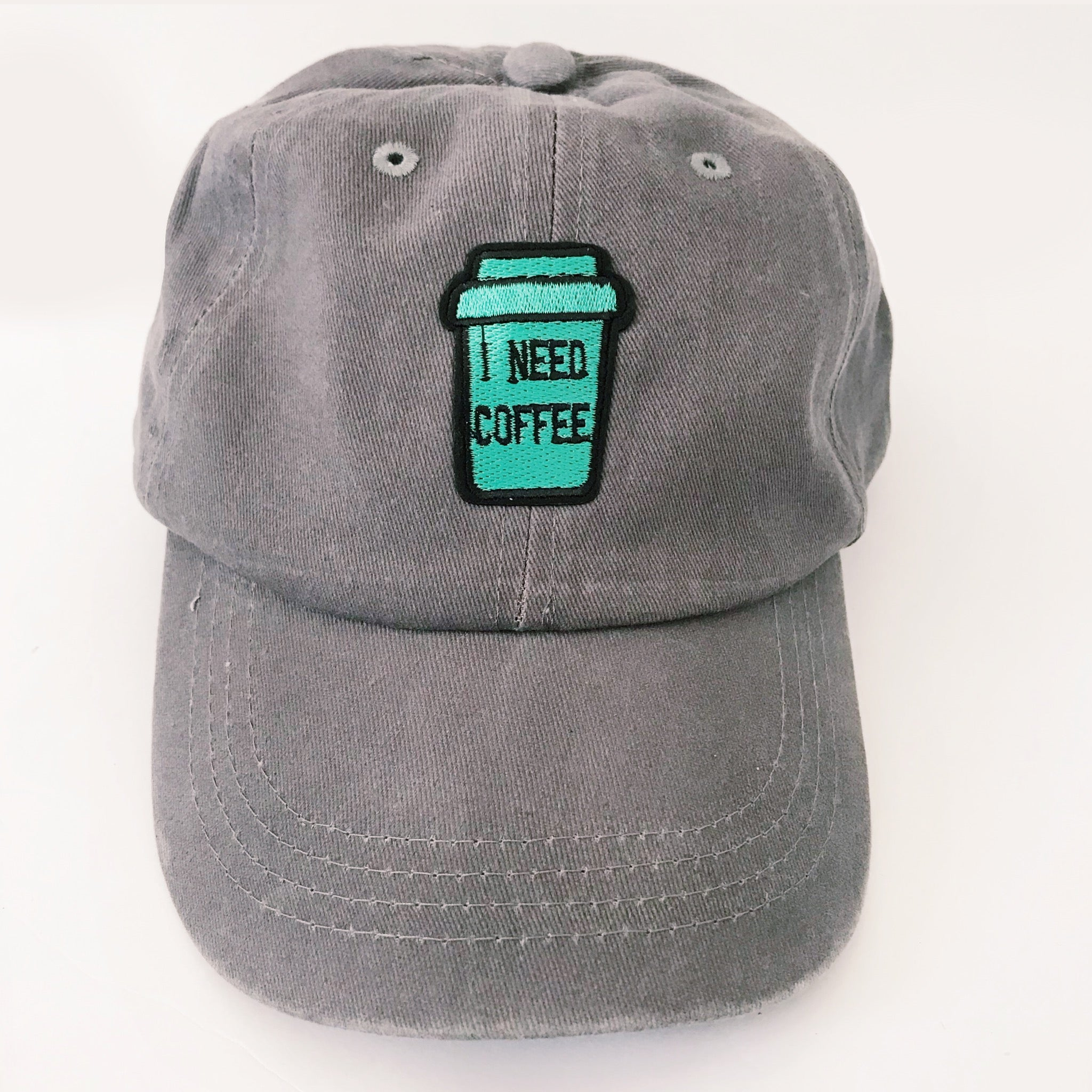 I Need Coffee Embroidered Baseball Cap