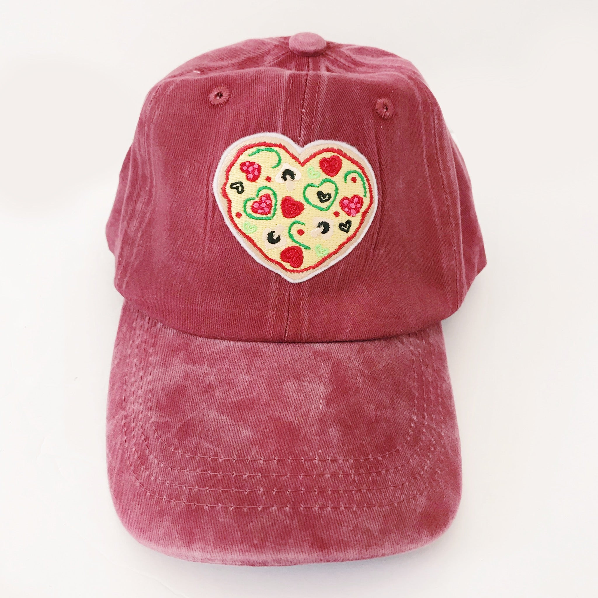 I Heart Pizza Embroidered Baseball Cap