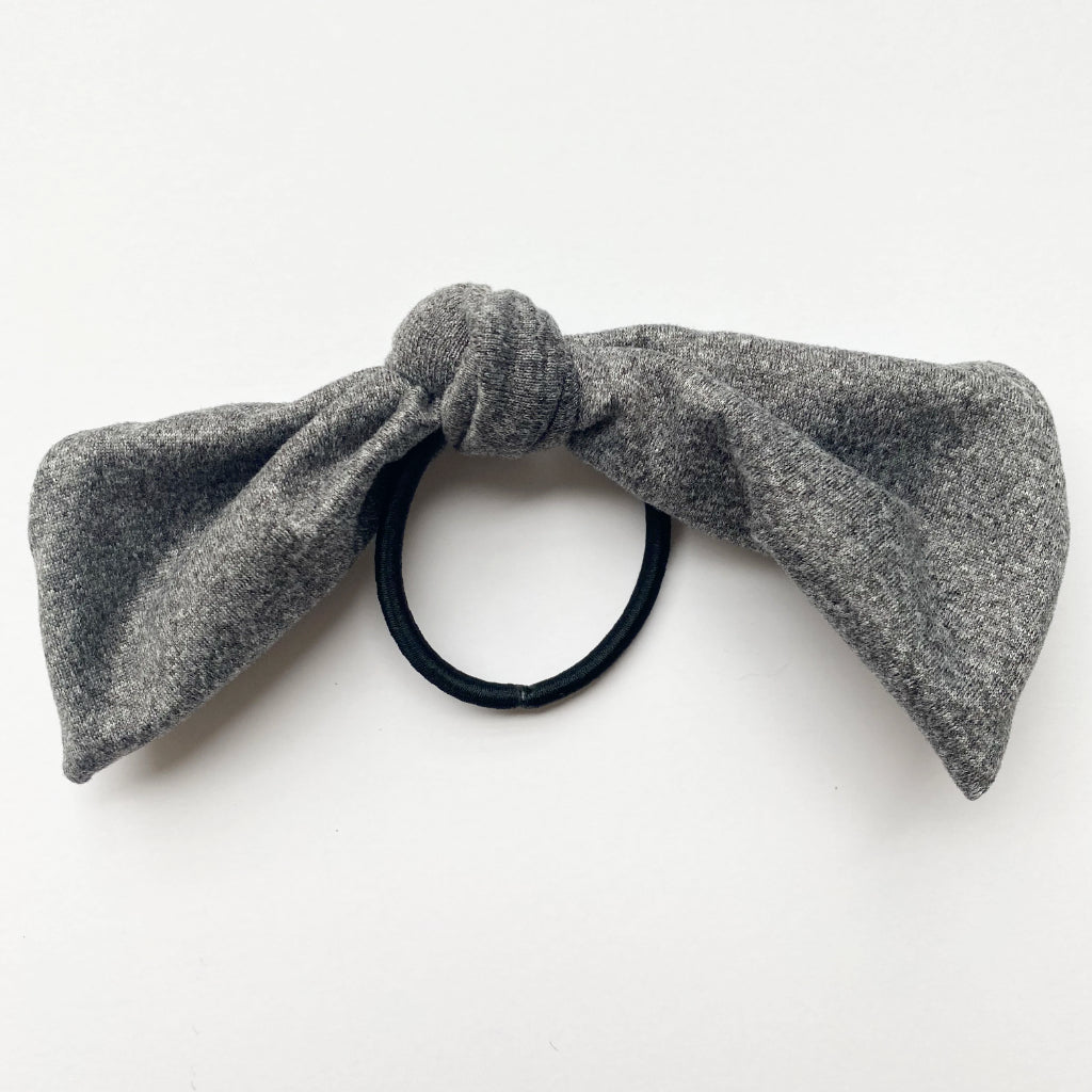 Heather Grey Knot Hair Tie
