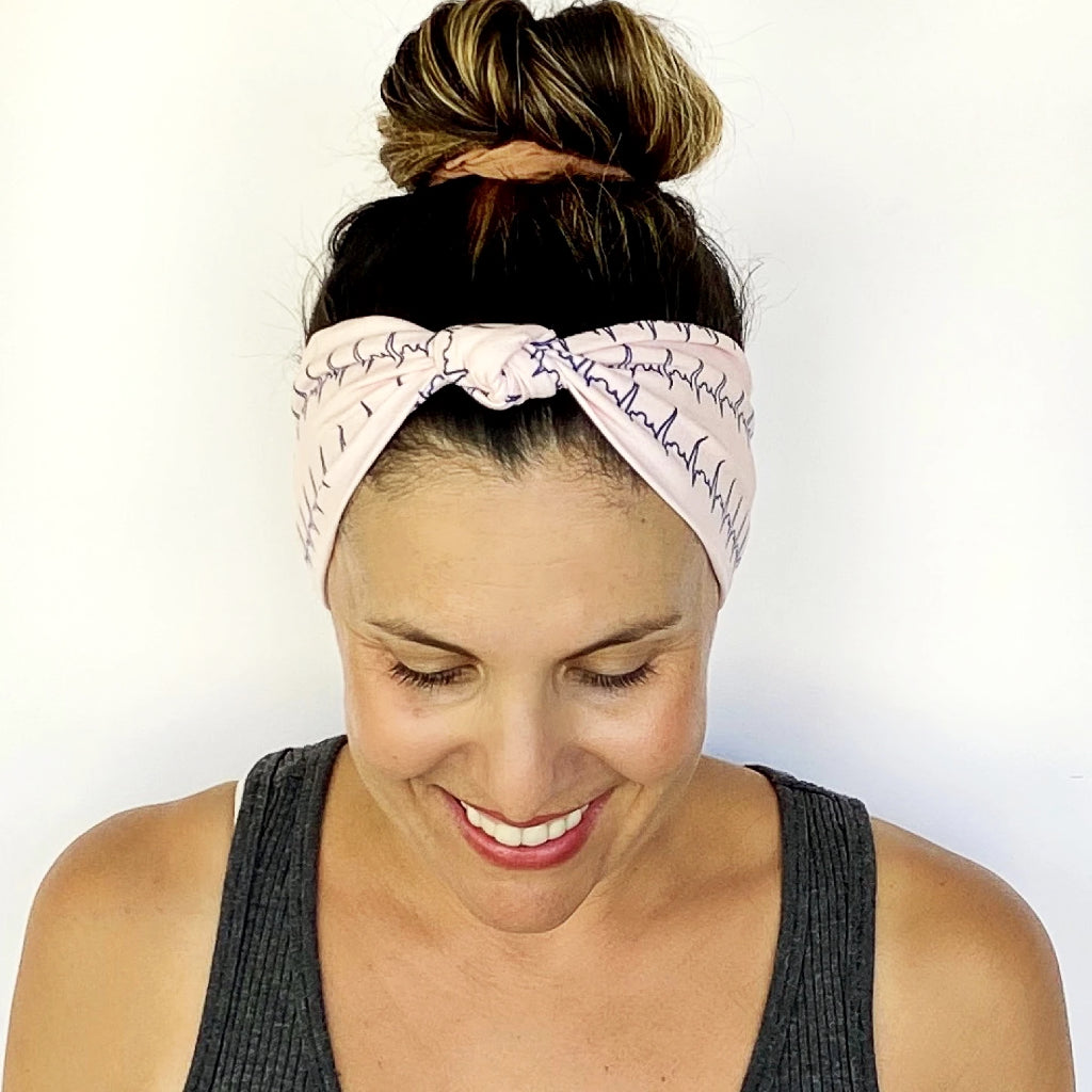 Heart Rate Knotted Headband