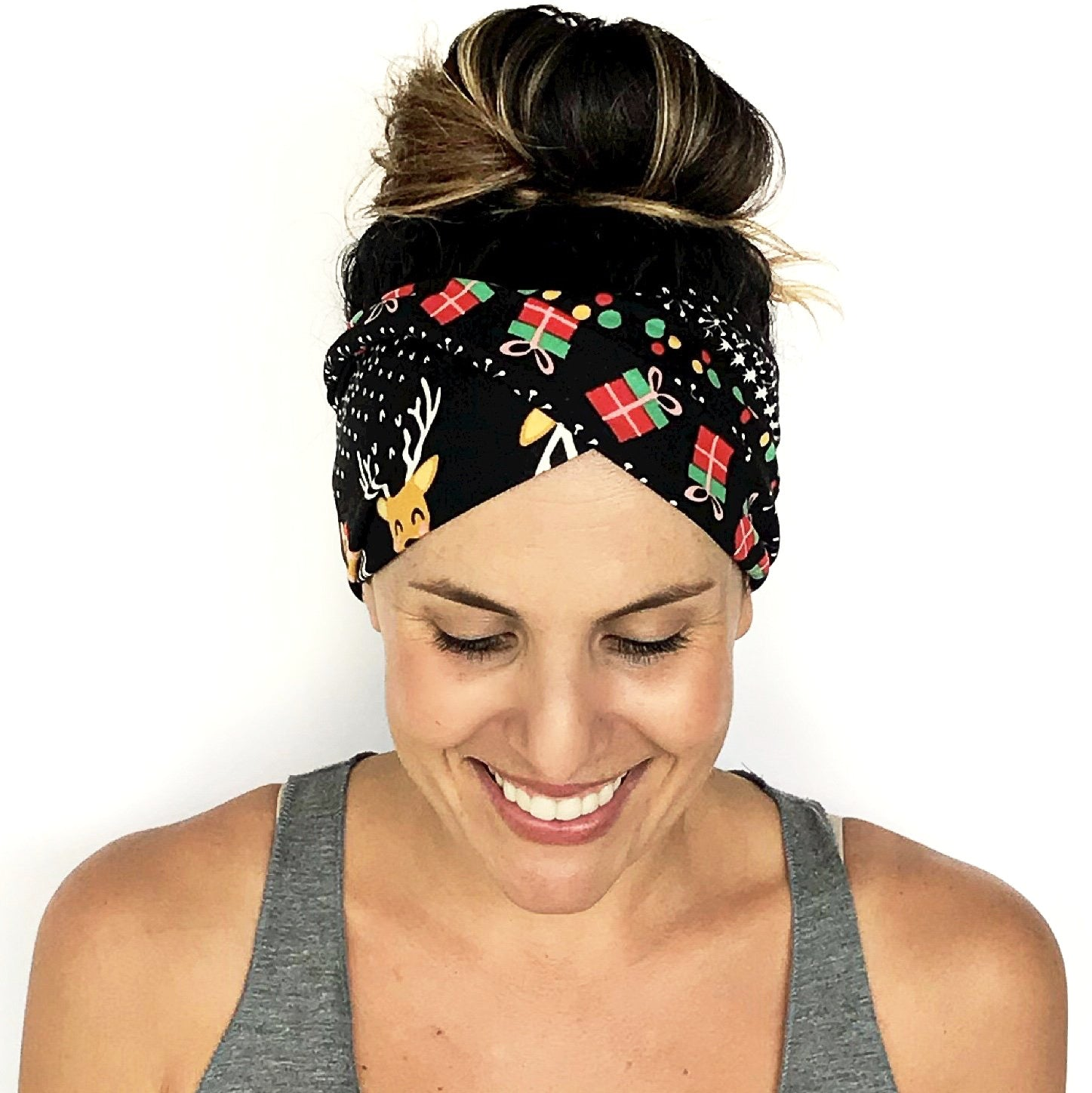 Deck The Halls Double Twist Headband