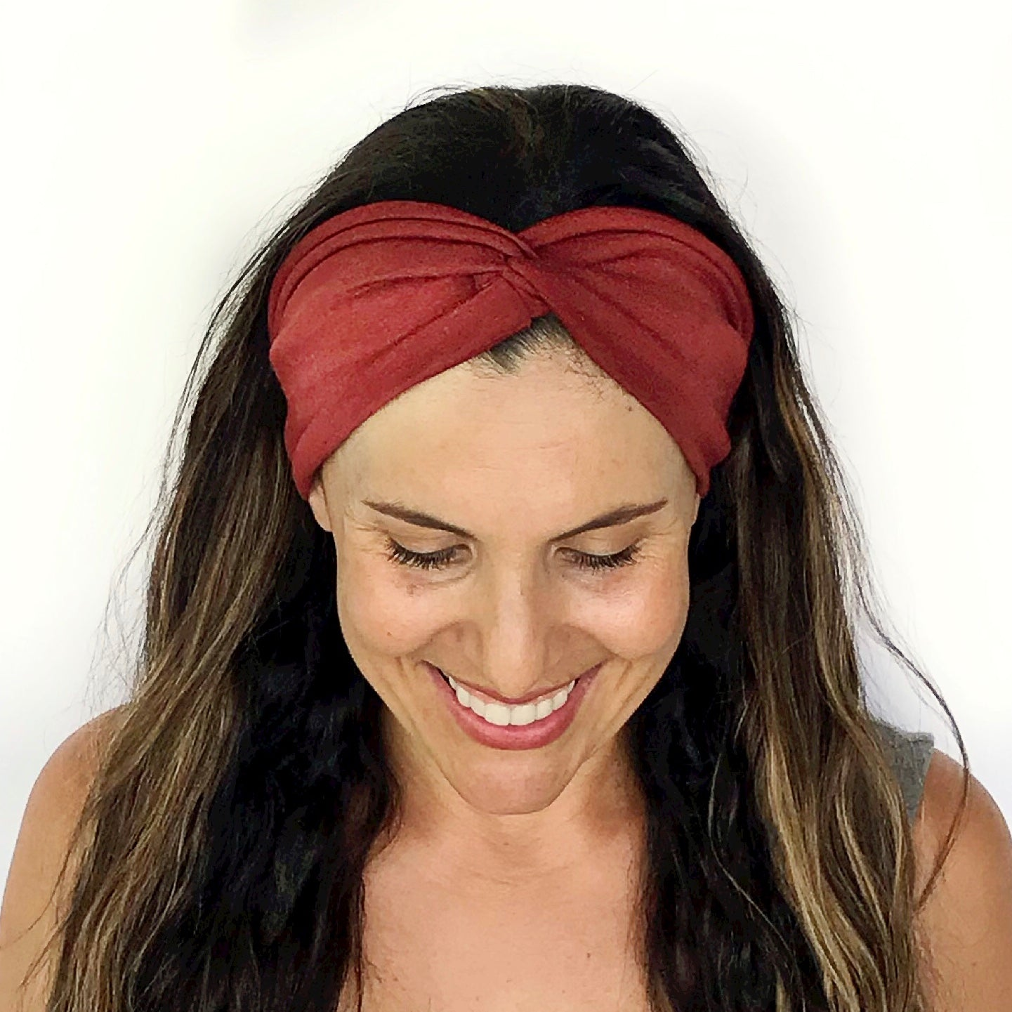 Rust Twisty Turban Headband