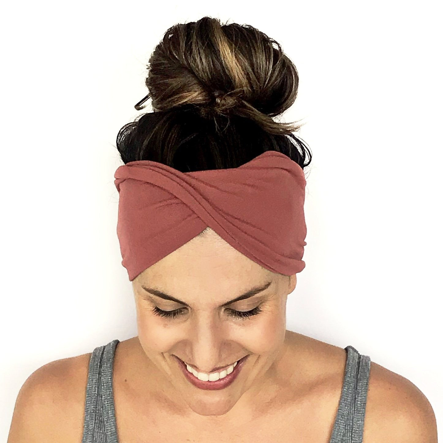 French Rose Double Twist Headband
