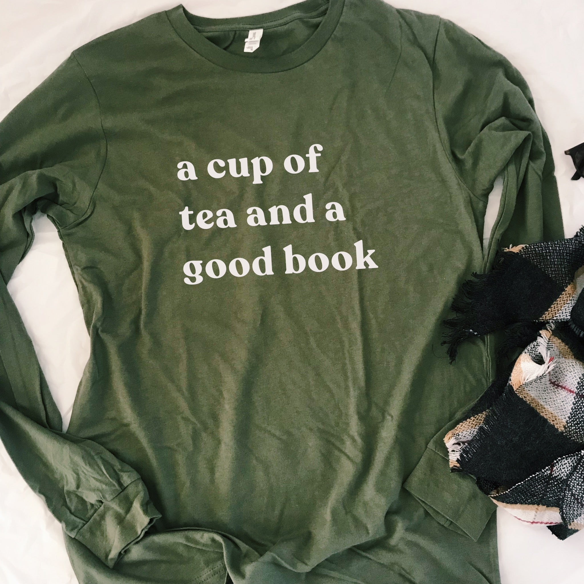 Tea + a Book Long Sleeve Tee