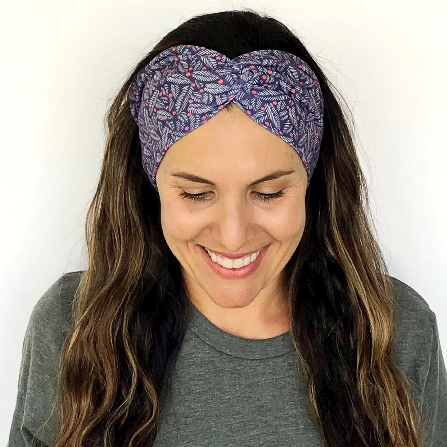 Holly Jolly Twisty Turban Headband