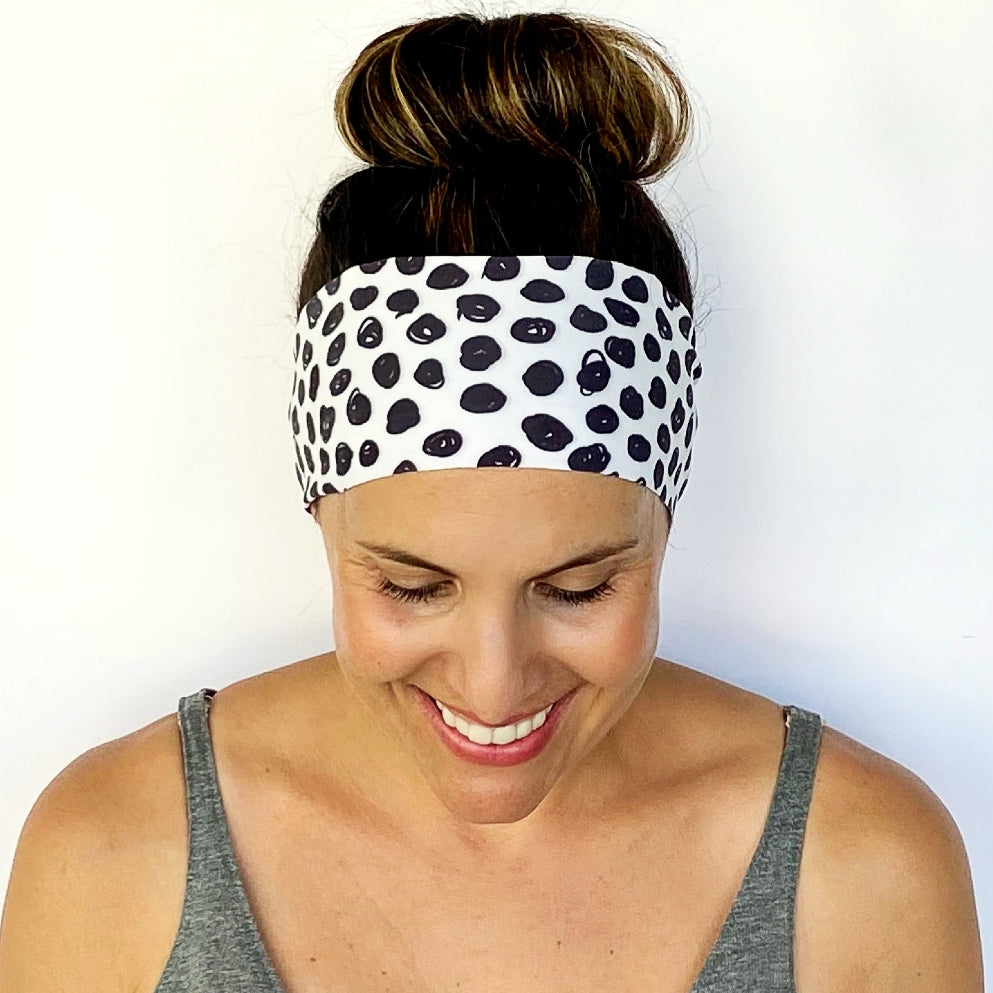Scribble Dot Workout Headband