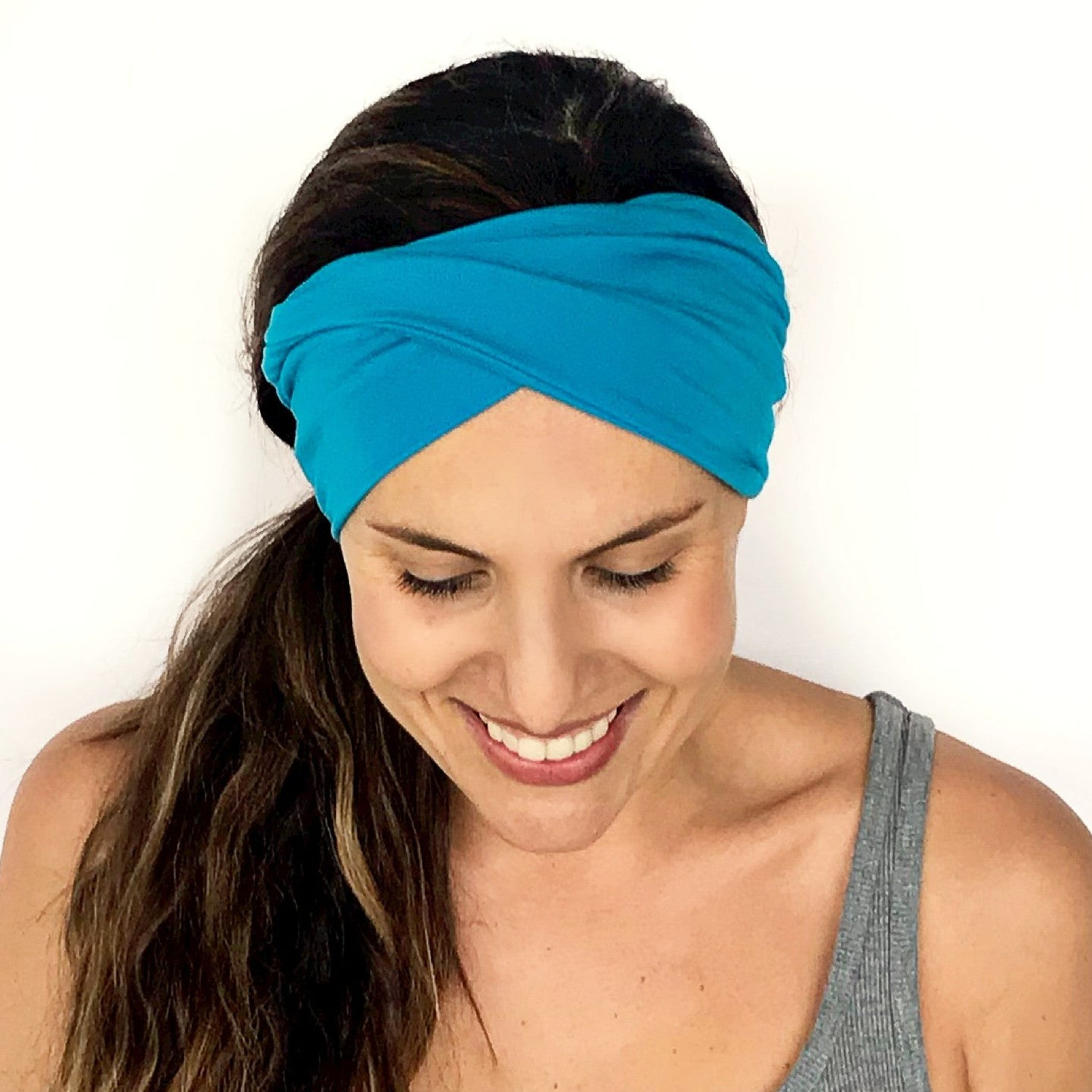 Sea Blue Double Twist Headband