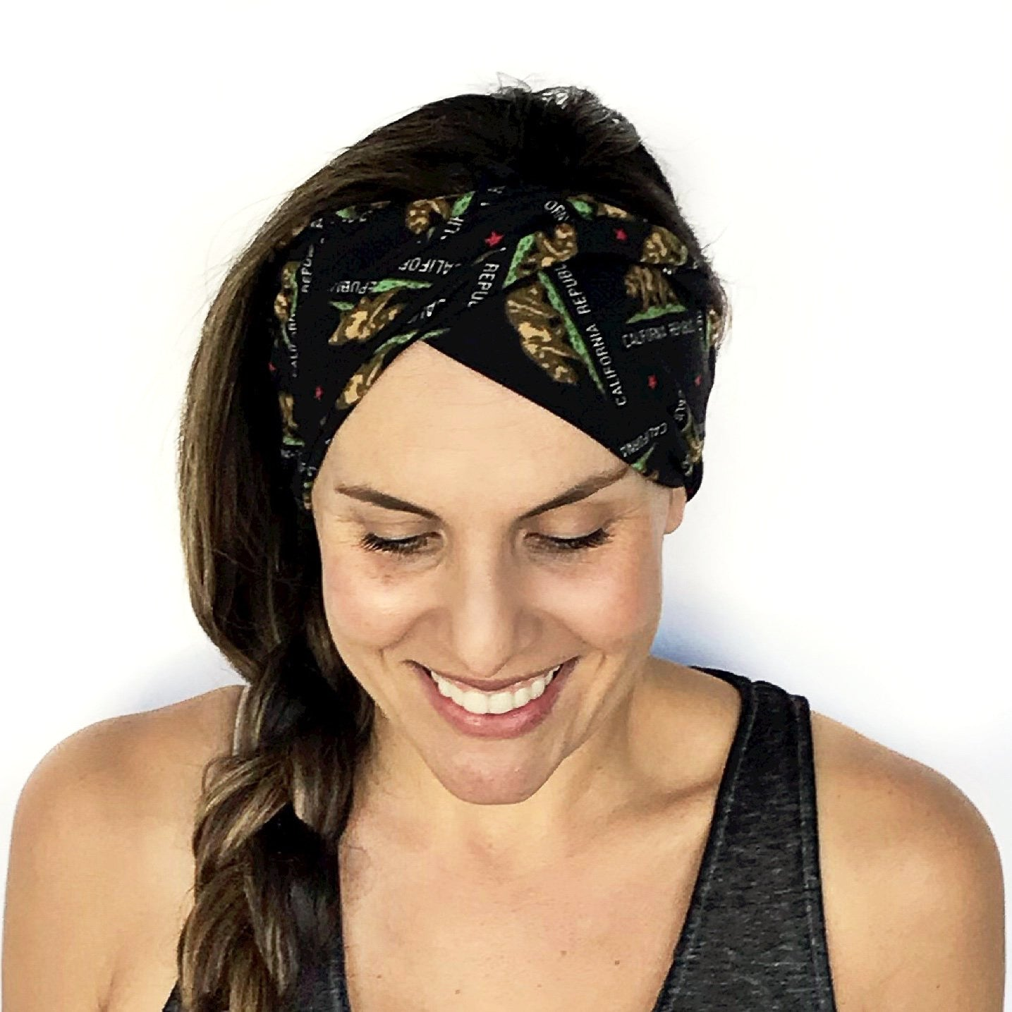 California Flag Double Twist Headband
