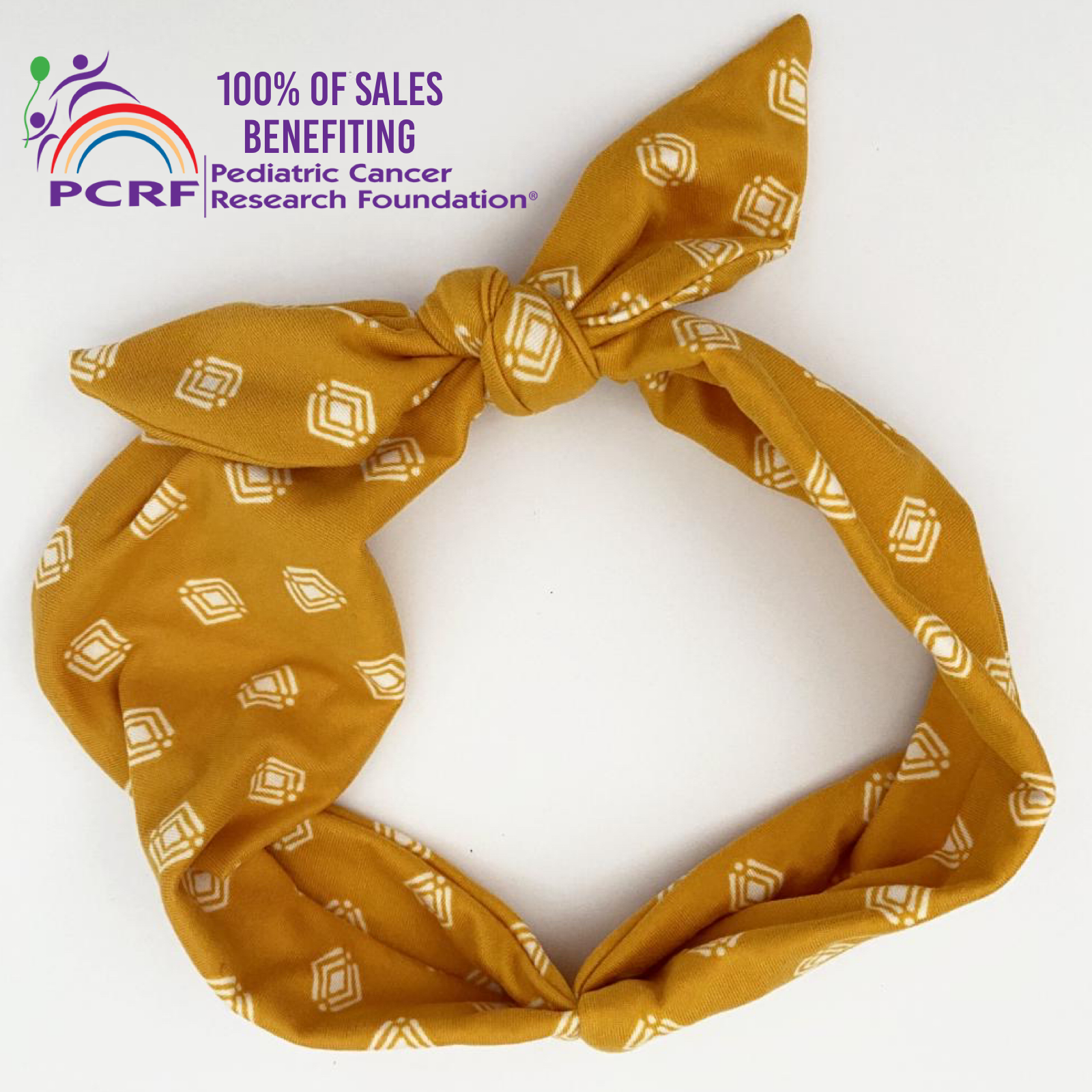 PCRF Tie Headband (100%  of proceeds donated to PCRF Foundation)