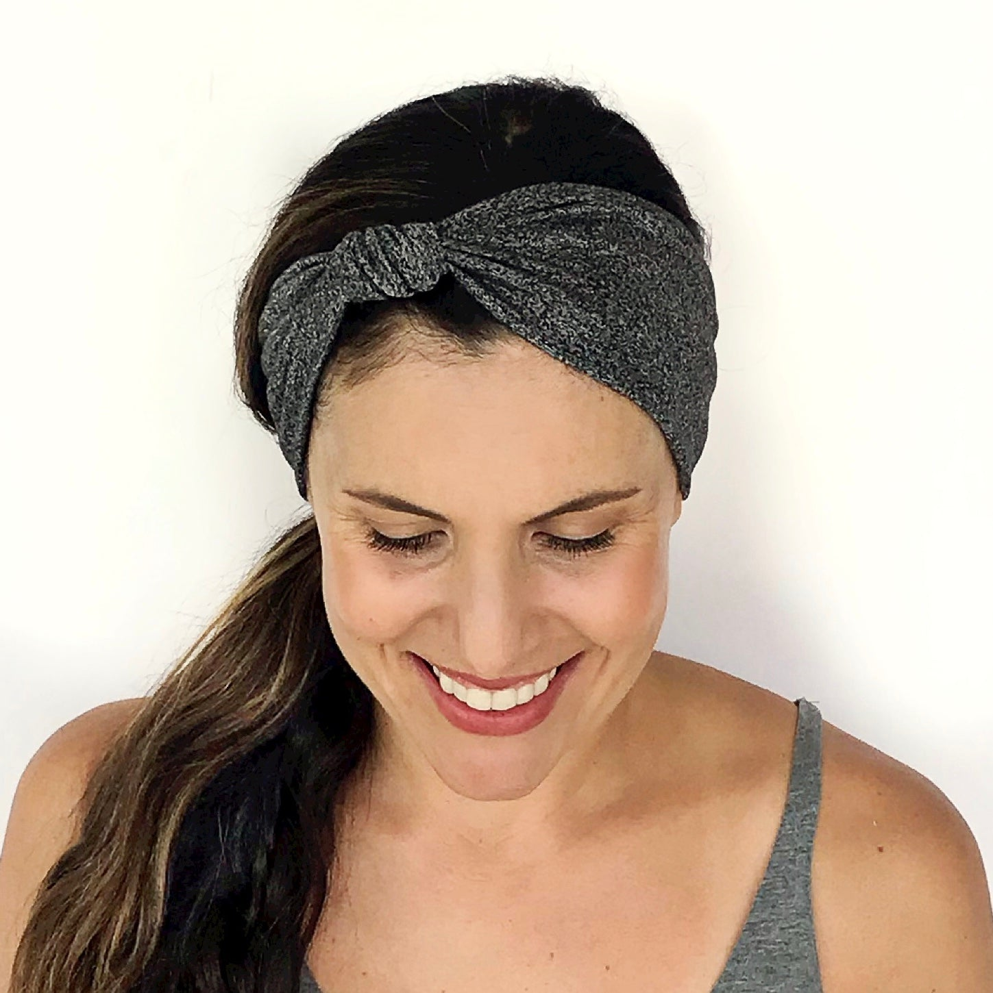 Speckled Grey Knotted Headband