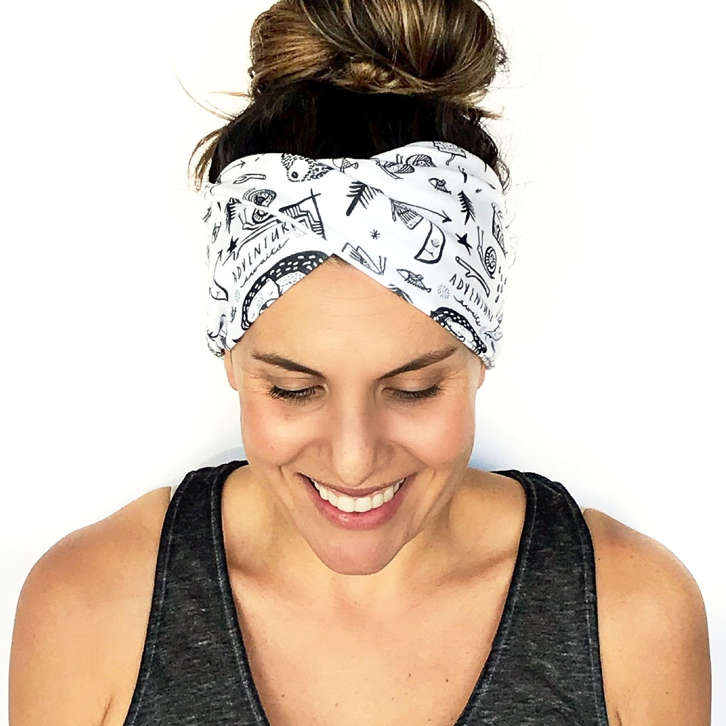Happy Camper Double Twist Headband