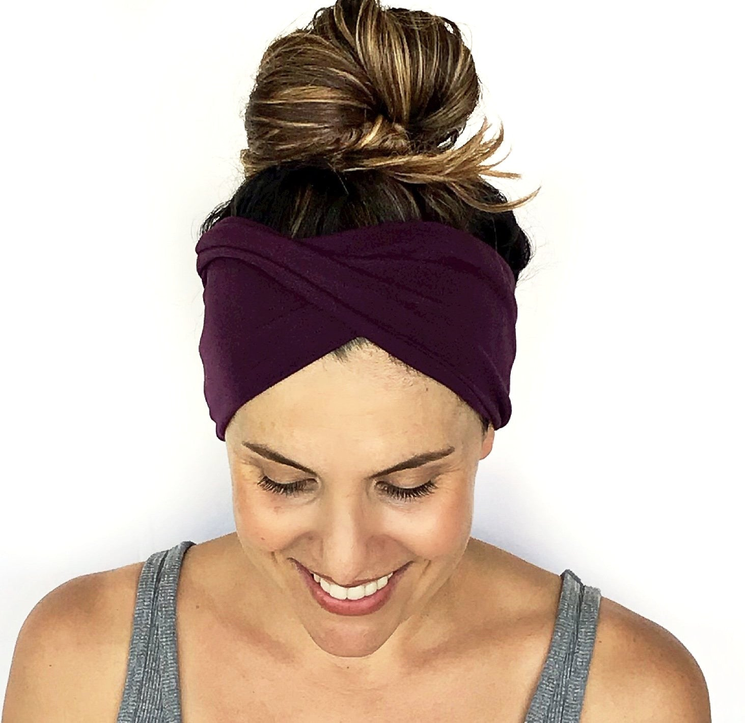Deep Plum Double Twist Headband