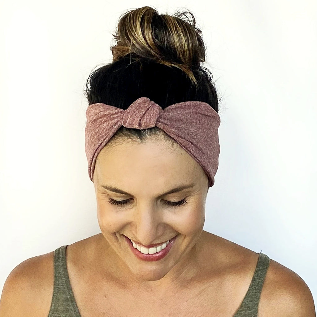 Wine Heathered Knot Headband