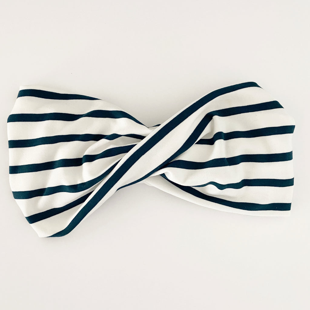 Evergreen Stripe Twist Headband