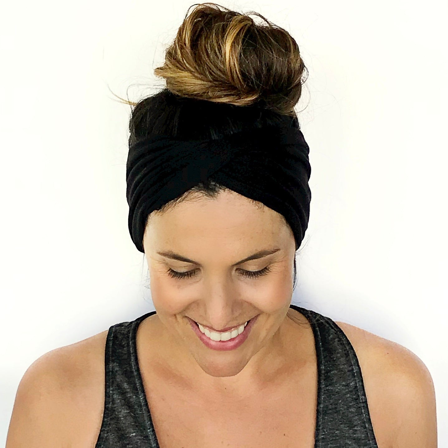 Black Double Twist Headband