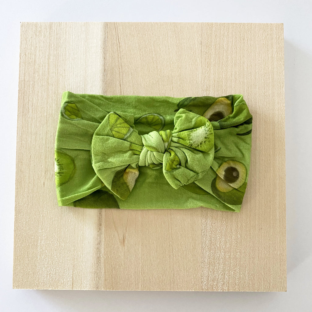 Avo And Lime Bow Headband
