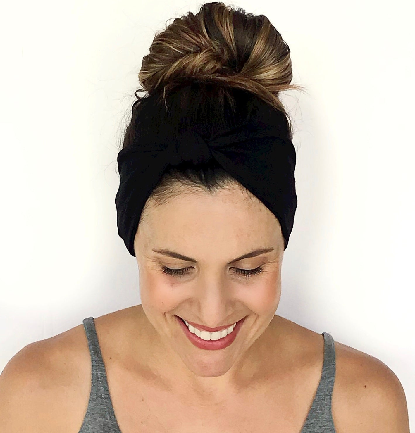 Solid Black Knotted Headband