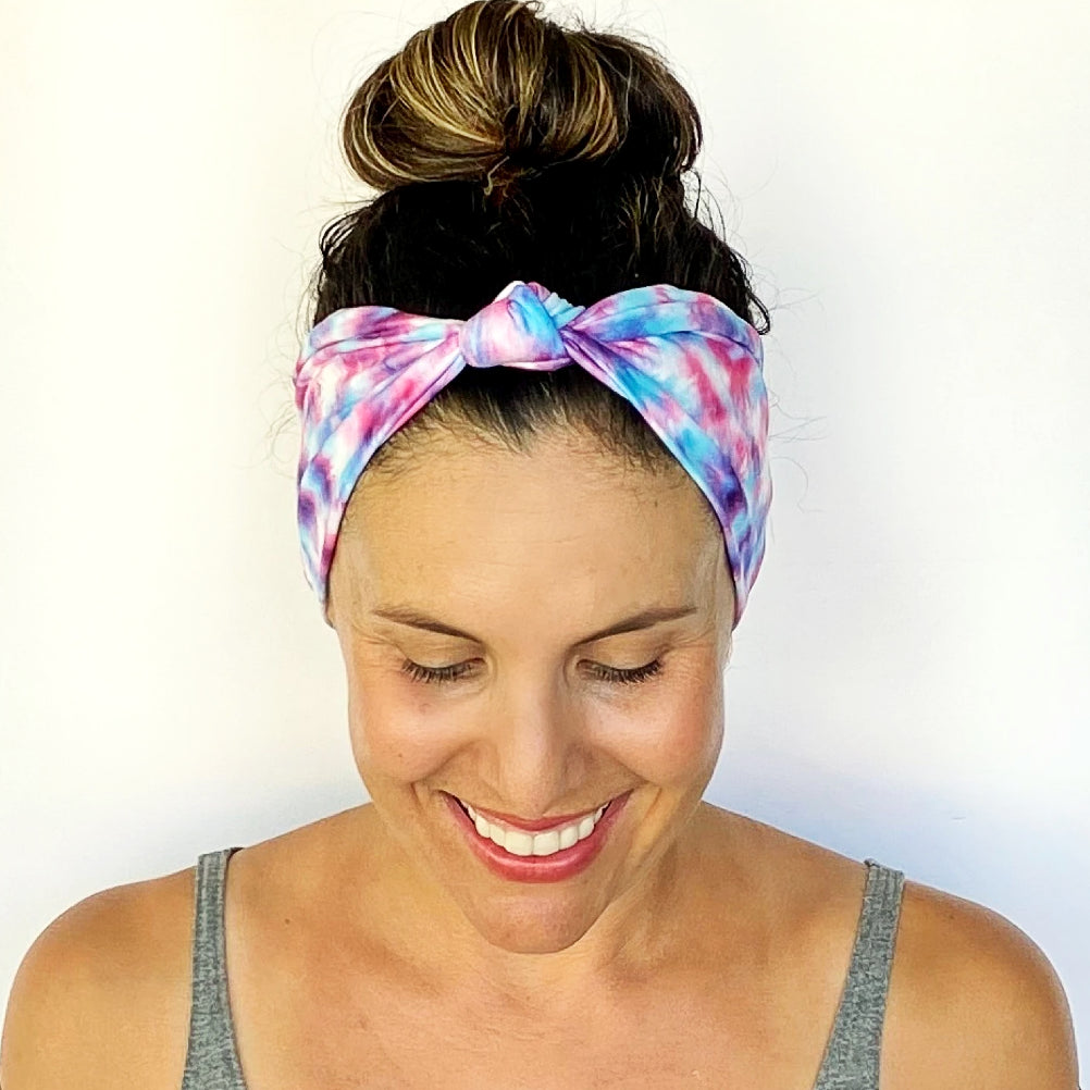 Cotton Candy Tie Dye Knotted Headband