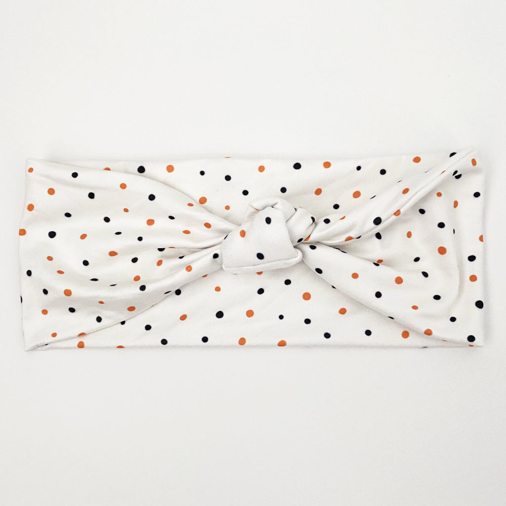 Halloween Polka Dot Knotted Headband