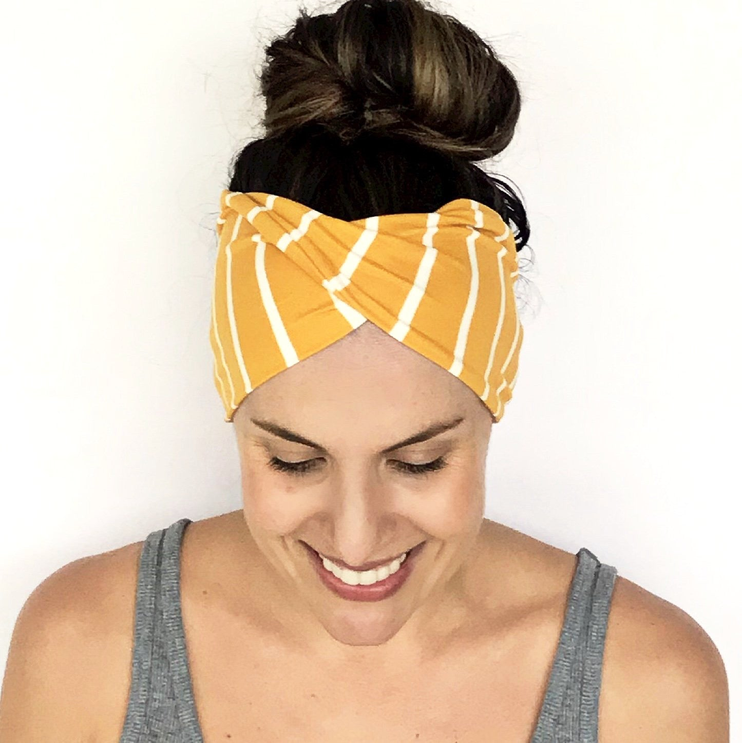 Sunshine Stripe Double Twist Headband