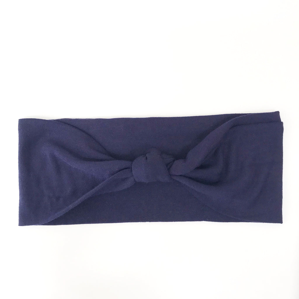 Navy Blue Knotted Headband
