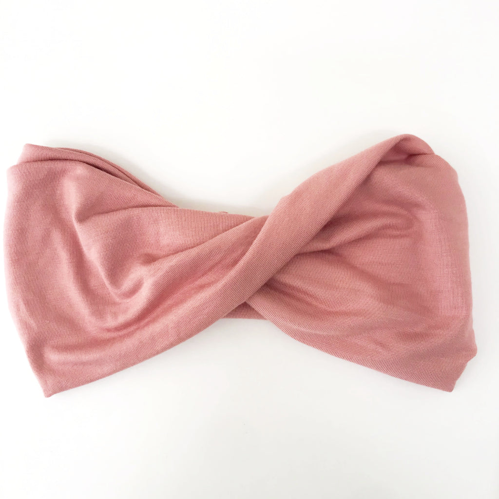 Blush Pink Double Twist Headband