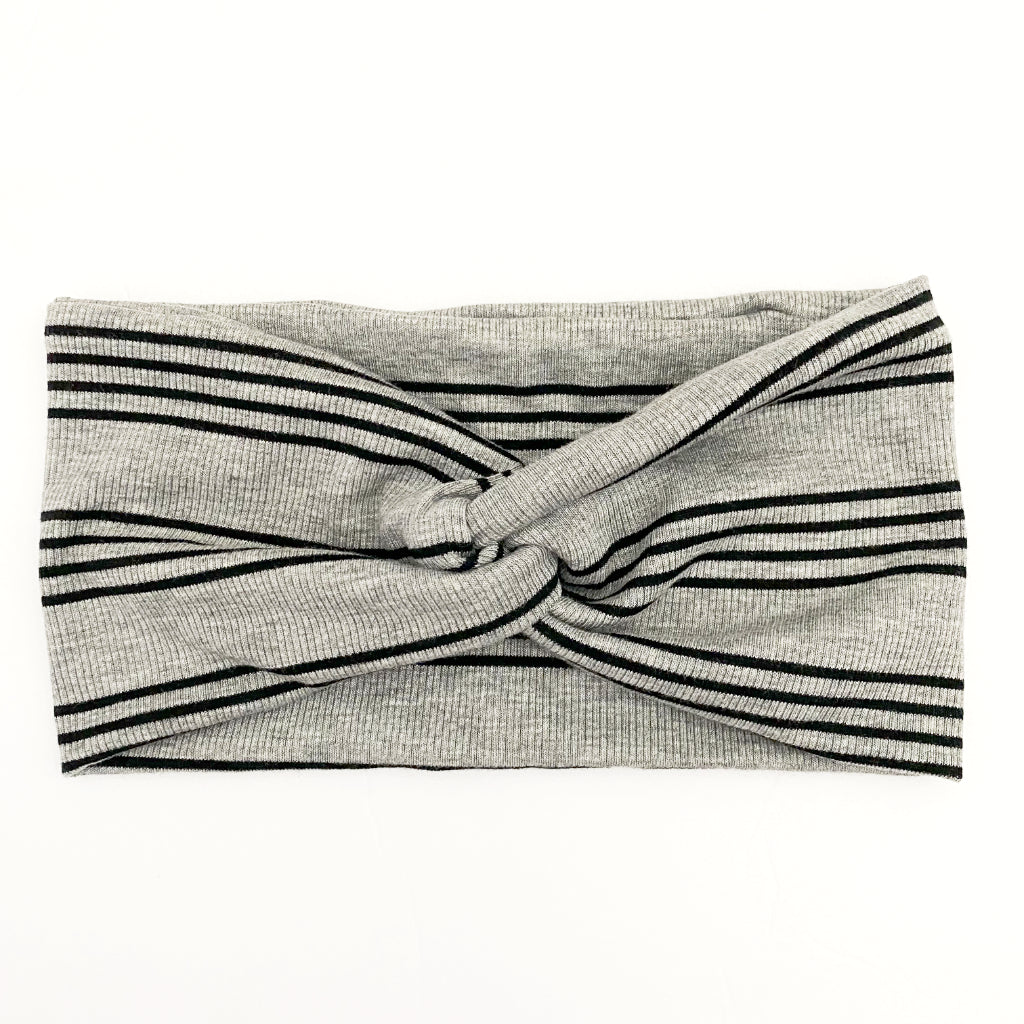 So Striped Ribbed Twisty Turban Headband