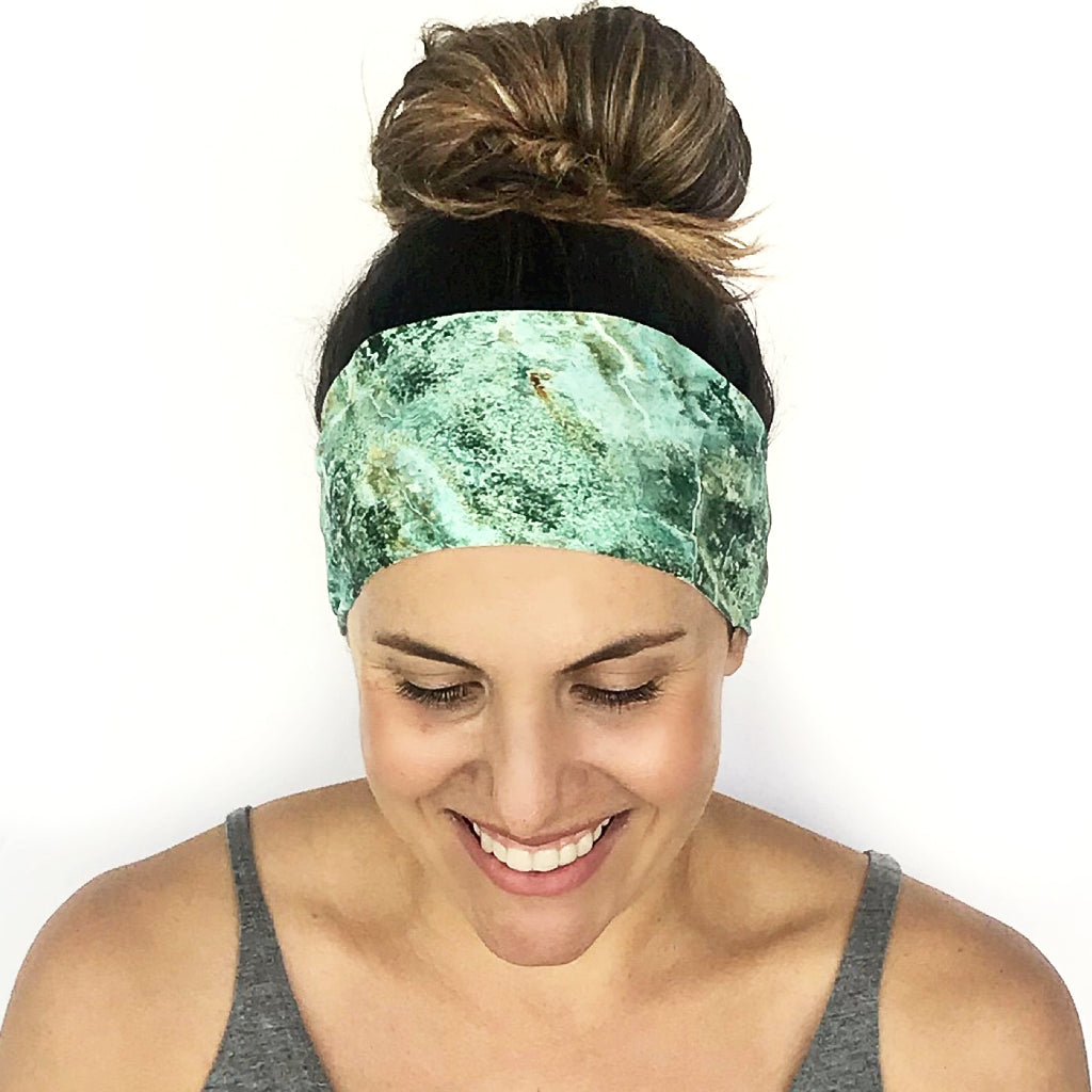 Emerald Marble Workout Headband