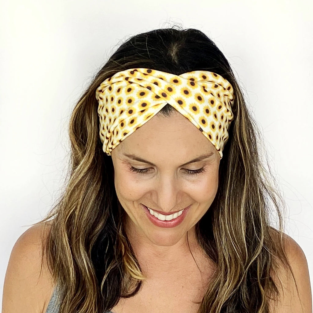 Little Sunflower Double Twist Headband