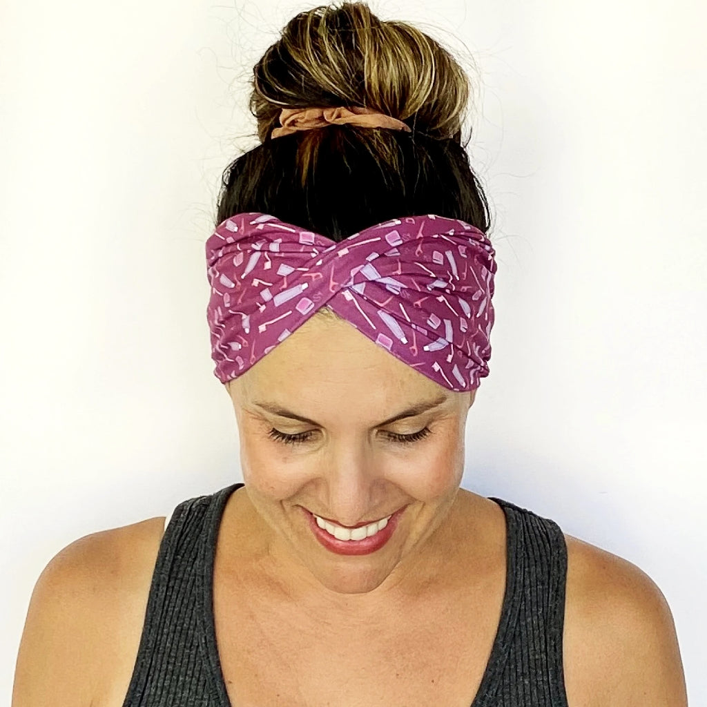 Don't Forget To Floss Double Twist Headband