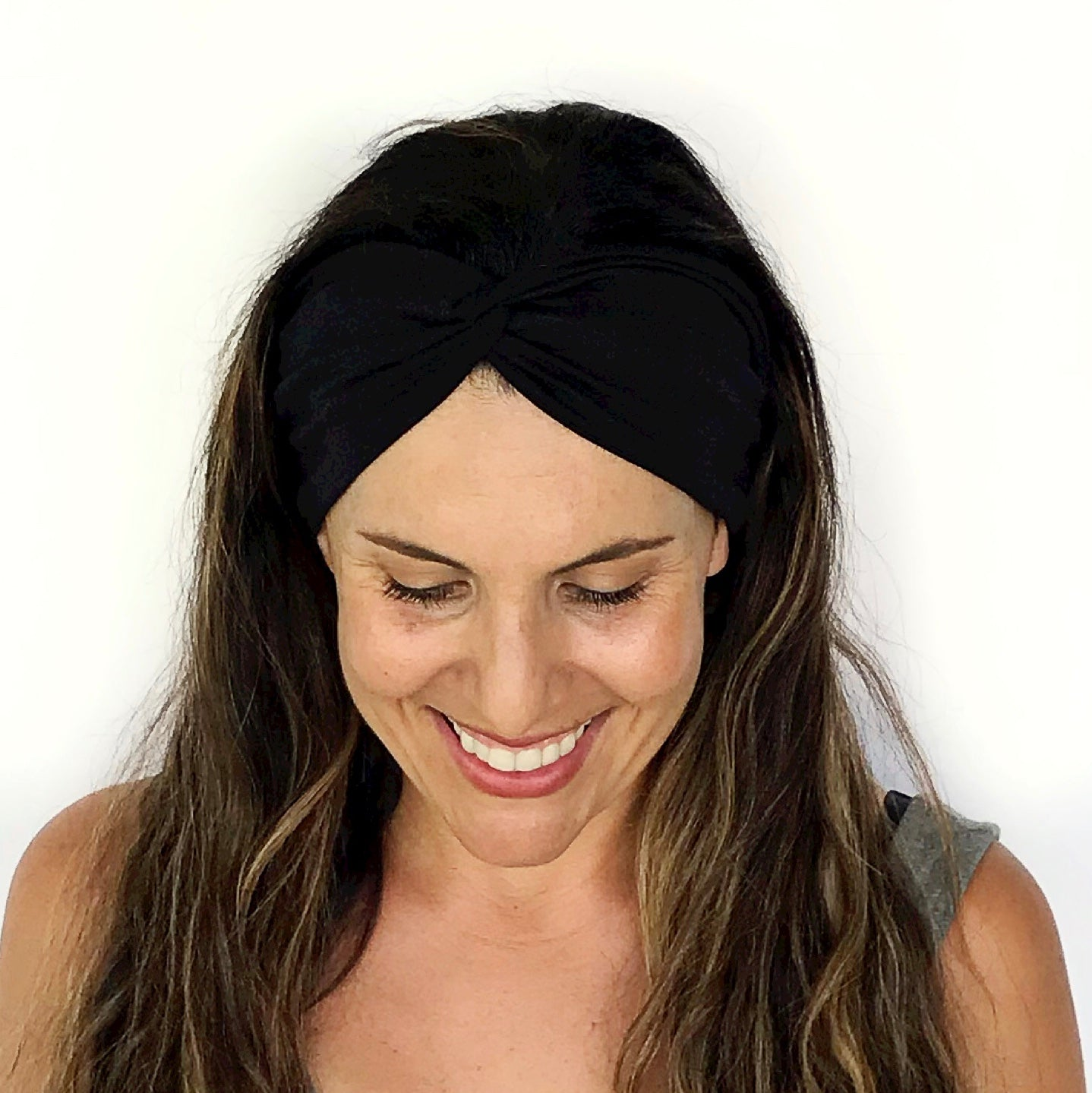 Black Twisty Turban Headband