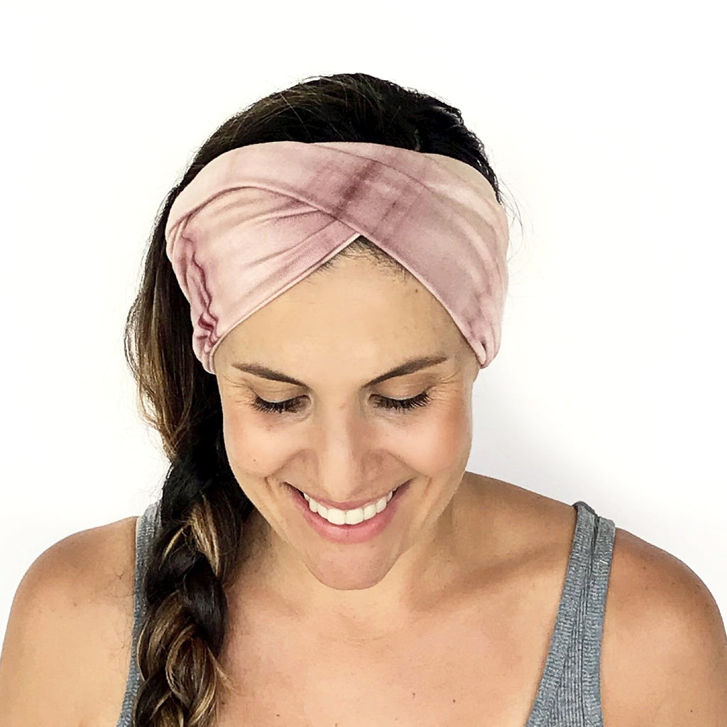 Blush Tie Dye Double Twist Headband
