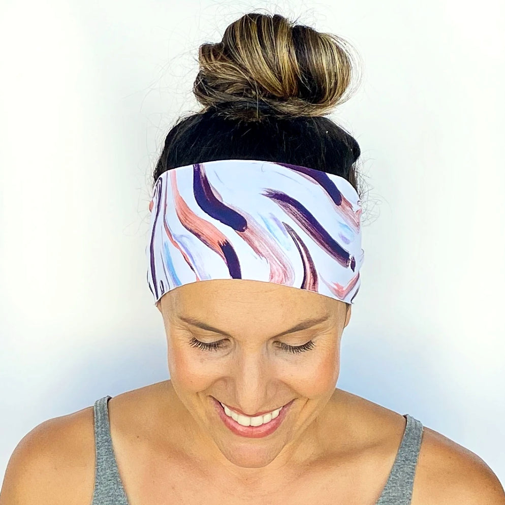 Brush Stroke Workout Headband