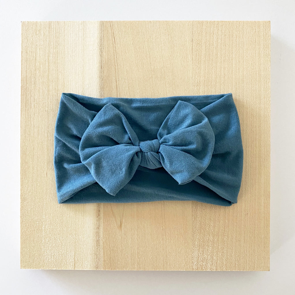 Dusty Turquoise Bow Headband