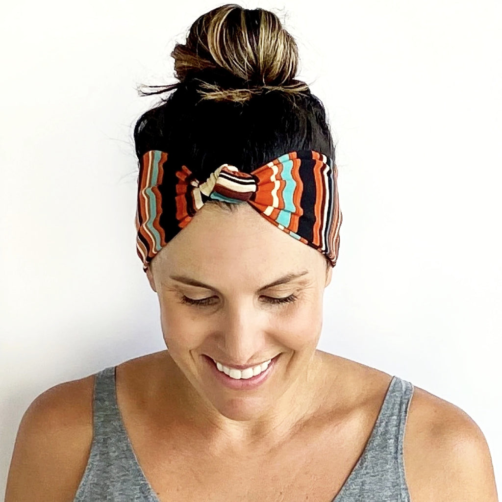 Patterson Stripe Knotted Headband