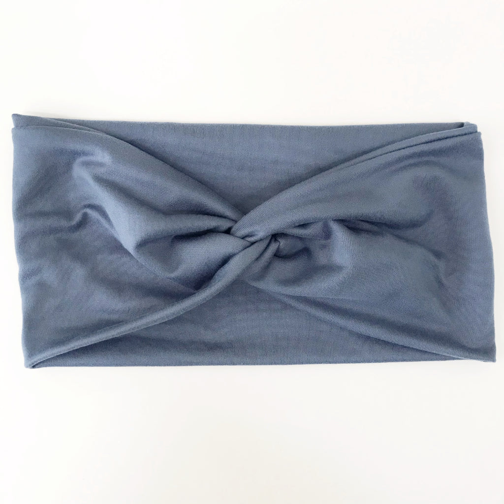 Dusty Blue Twisty Turban Headband